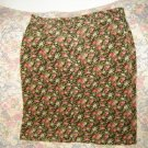 Jones New York Floral Corduroy Jean Style Skirt 14