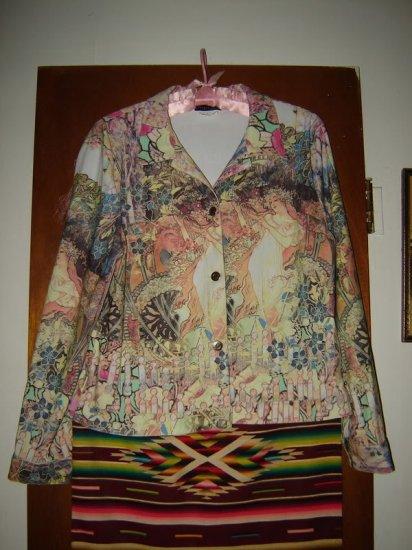 Womens Impulse Art Noveau Stained Glass Jacket L