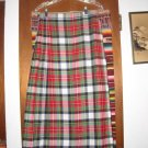 Womens Deans of Scotland Plaid Kilt Skirt 12