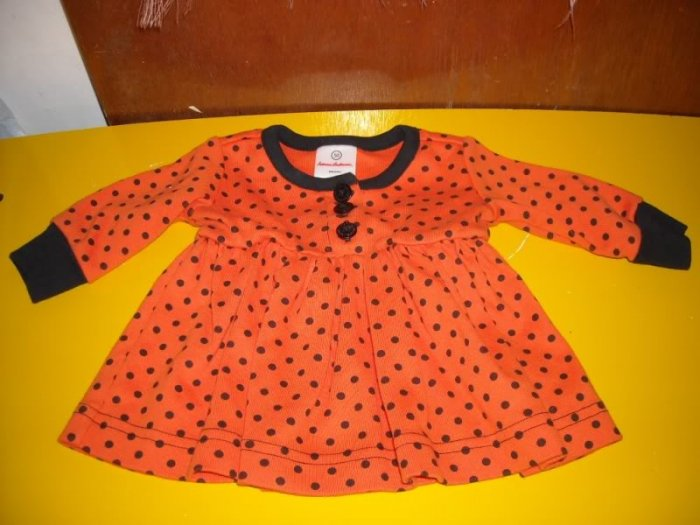 Hanna Andersson Infants Dress 50 Halloween Orange Black