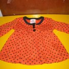 Hanna Andersson Infants Dress 50 Halloween Orange Black