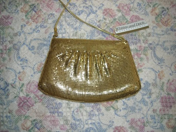 Whiting and Davis International Gold Mesh Bag