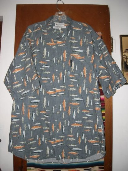 Mens Columbia Fish Trout Shirt XXL