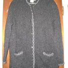 Womens Denbigh Knitwear Charcoal Gray Sweater Jacket S