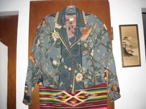 Womens Painted Pony Bird Floral Jacket S Small