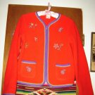 Girls Hanna Andersson Red Fleece Zippered Jacket 160