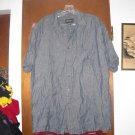 Mens Eddie Bauer Dark Blue Linen Shirt L