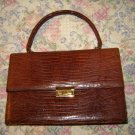 Vintage Bellestone Lizard Leather Flap Close Purse Bag