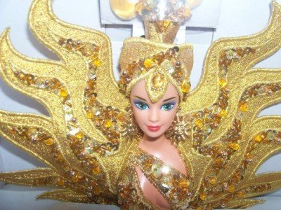 FANTASY Barbie GODDESS OF THE SUN BOB MACKIE DOLL 11,000 hand-sewn sequin/beads