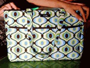 SALE Posh Tori Coco Brown GROOVE Diaper Bag/tote bag