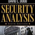 Security Analysis 6th Edition by Warren Buffett, David Dodd, Benjamin Graham sixth New Book