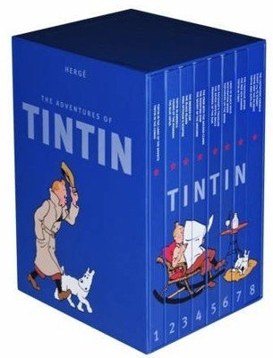 The Adventures of TINTIN 3 In 1 Box Set Of 8 Volumes by Herge collection Books combo complete
