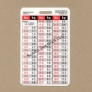 Weight Conversion Badge Card Vertical Pediatric Range