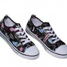 Cute Running  Textile Sneakers Black Shoes All Sizes
