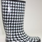 143 Girl RAISIN HOUNDSTOOTH RAINBOOTS BLACK Shoes US 1
