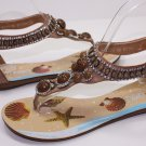 New Style Sandals Thongs Strappy Beaded Rhinestone 5~10