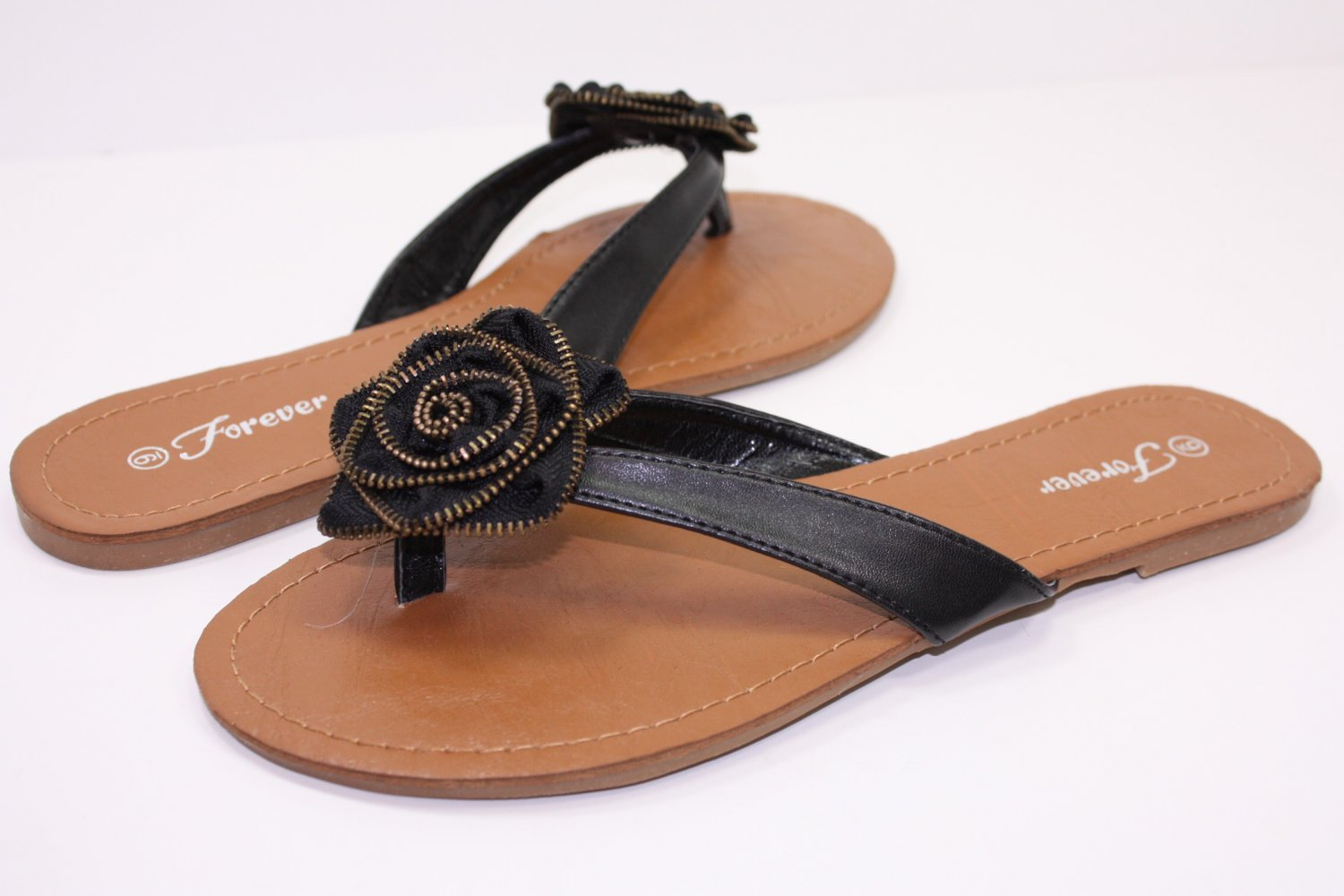 New Sandals Thongs Slippers With Flower  5~10