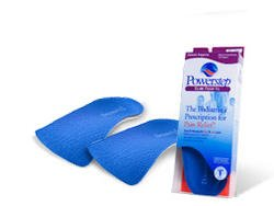 Powerstep Slim Tech 3/4 Length Foot Insoles Arch Suppo
