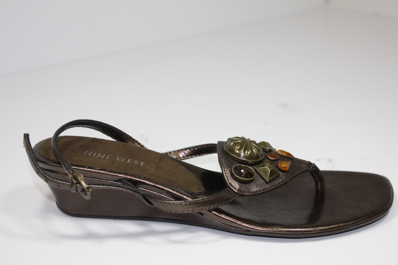 Nine West Lasoya Sandals Rustcopper Shoes US 7 $69