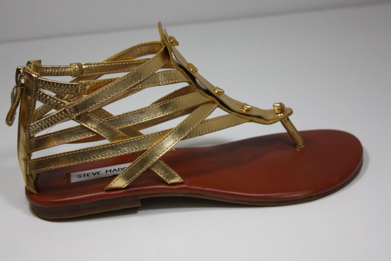 Steve Madden Barbyy Sandals Gold Shoes US 7.5 $79
