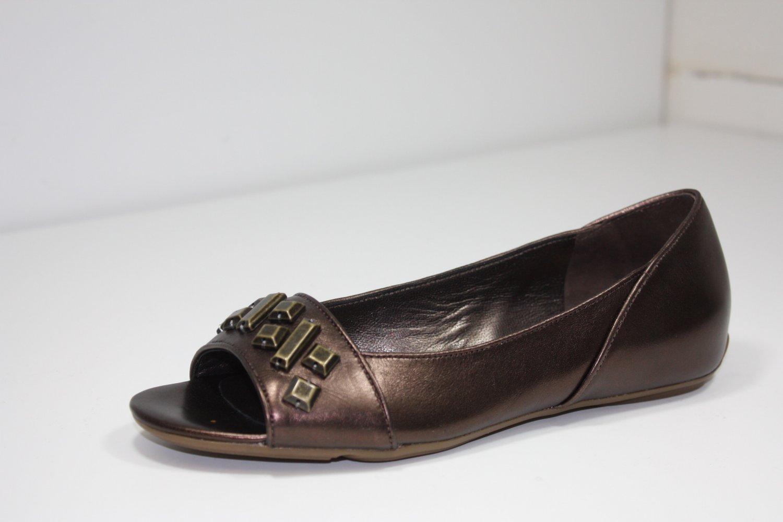 Cole-Haan Air Maia Flats Dk Brwn Metallic Shoes US 5.5