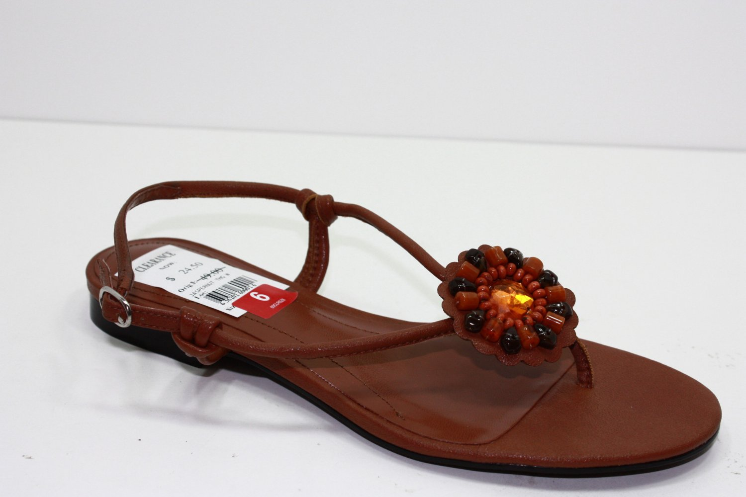 Style & Co JASPER Sandals Brown Womens Shoes 6