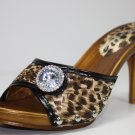 Sandals High Heels Slides Open Toe Leopard Shoes