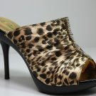 Sexy Slides Sandals High Heels Leopard Shoes All Sizes
