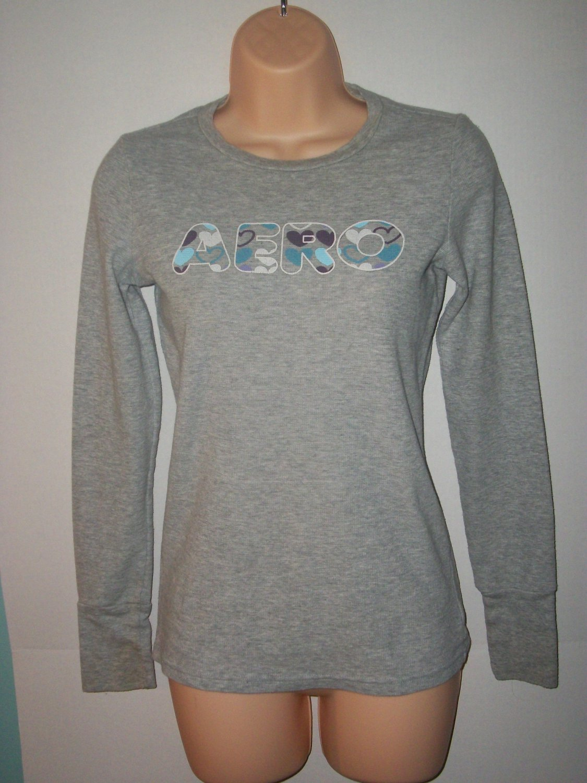Aero Long Sleeve Gray shirt