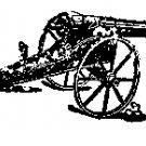 Cannon Rubber stamp Vintage artillery