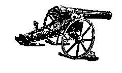 Cannon Rubber stamp Vintage artillery