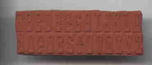 Initial Alphabet Rubber Stamps unmounted