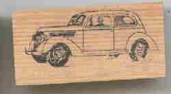 1936 Ford car Rubber Stamp