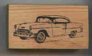 1955 Chevy Chevrolet Car automobile rubber stamp