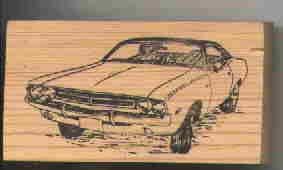 1971 Dodge Challenger Car Rubber stamp