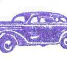 1938 Dodge Sedan car rubber stamp