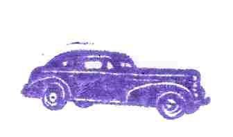 1938 Oldsmobile Olds car Rubber Stamp