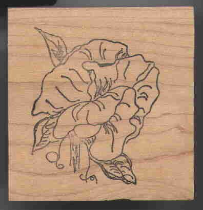 sWEET pEA Rubber Stamp Large! Original COA