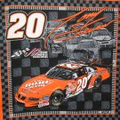 Tony Stewart #20 Nascar Fabric 2002 Fat Quarter Pillow top
