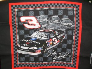 Dale Earnhardt #3  Nascar Fabric 2002 Fat Quarter Pillow top