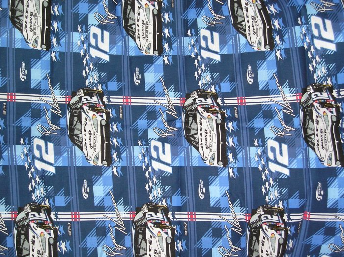 Ryan Newman #12 Nascar Fabric 2002 Fat Quarter