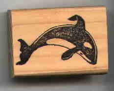 Keiko Killer whale Orca rubber stamp made in USA