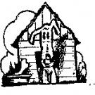 Dog in House rubber stamp