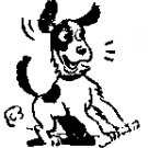 Dog Stopping rubber stamp