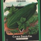 1920's Card seed Company seed packet Cucumber white spine Cetriolo