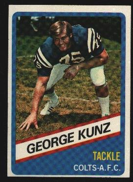 1976 Wonder Bread Football card #7 George Kunz Colts