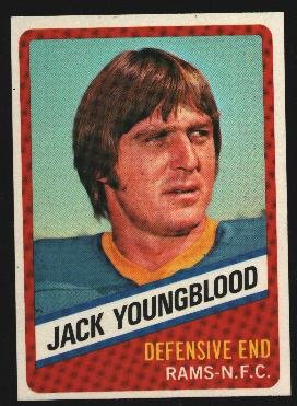 1976 Wonder Bread Football card #14 Jack Youngblood Rams