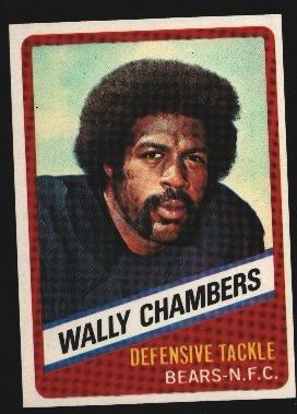 1976 Wonder Bread Football card #15 Wally Chambers BEARS