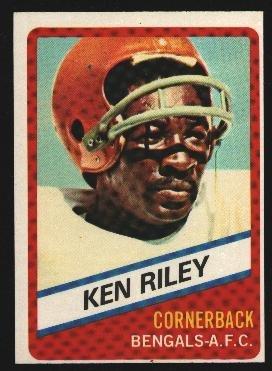 1976 Wonder Bread Football card #23 Ken Riley Bengals