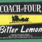 Coach and Four Bitter Lemon vintage soda label MINT